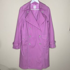 Anna Sui Pink Trench Coat